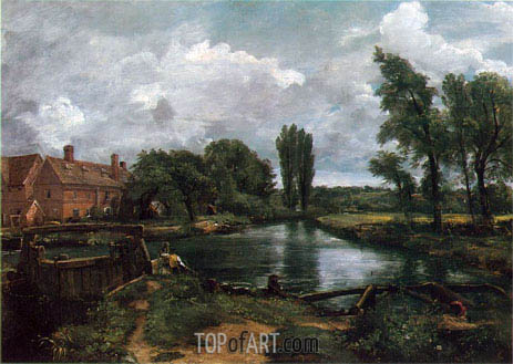Constable | Flatford Lock and Mill, 1812