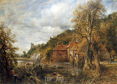 Arundel Mill and Castle, 1837 | Constable | Gemälde Reproduktion