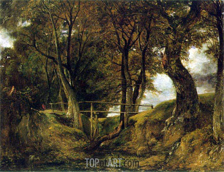 Helmingham Dell, c.1825/26 | Constable| Gemälde Reproduktion