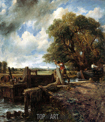 The Lock, 1824 | Constable | Painting Reproduction