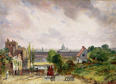 View of the City of London from Sir Richard Steele's Cottage, Hampstead, c.1832 | Constable | Painting Reproduction
