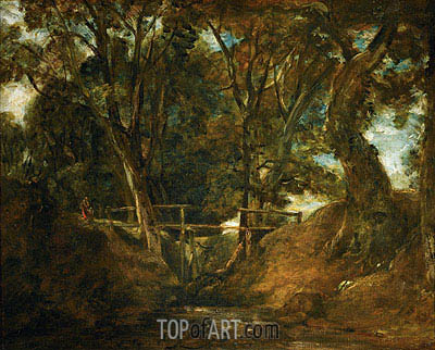 Helmingham Dell, Suffolk, c.1823 | Constable| Painting Reproduction