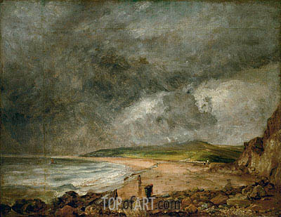 The Bay of Weymouth before a Thunderstorm, c.1818/19 | Constable| Gemälde Reproduktion