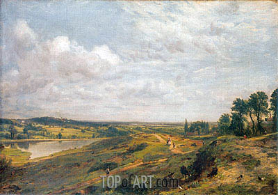 Hampstead Heath, c.1821 | Constable | Painting Reproduction