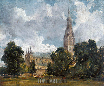 Salisbury Cathedral from the Southwest, 1820 | Constable| Painting Reproduction