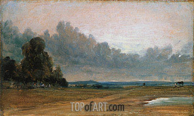 Constable | A View on Hampstead Heath with Harrow in the Distance, 1822