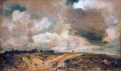 Road to the Spaniards, Hampstead, 1822 | Constable | Painting Reproduction