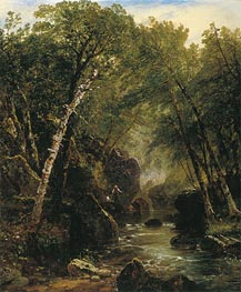 Trout Fisherman, 1852 by John Frederick Kensett | Painting Reproduction