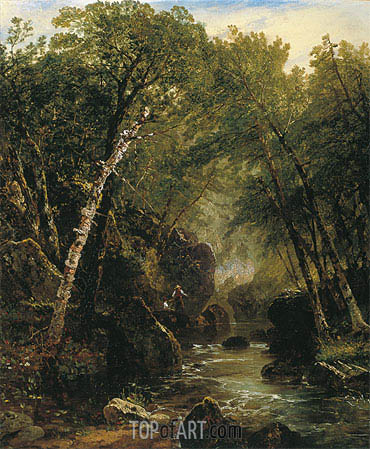Trout Fisherman, 1852 | John Frederick Kensett | Painting Reproduction