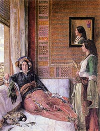 Hhareem Life, Constantinople, 1857 by John Frederick Lewis | Painting Reproduction