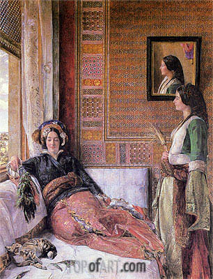 Hhareem Life, Constantinople, 1857 | John Frederick Lewis | Painting Reproduction
