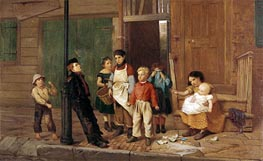 The Bully of the Neighbourhood, 1866 by John George Brown | Painting Reproduction