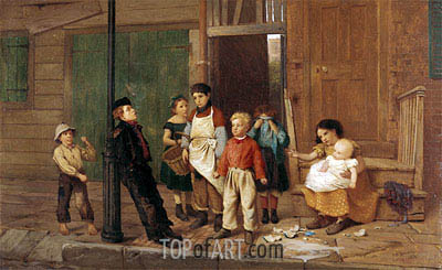 The Bully of the Neighbourhood, 1866 | John George Brown | Painting Reproduction