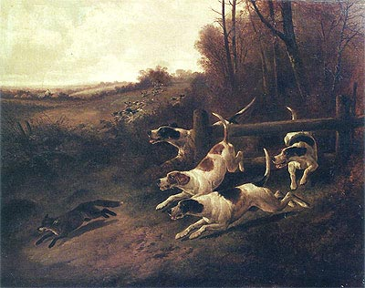Fox Hunting, c.1850/00 | John Gifford | Painting Reproduction
