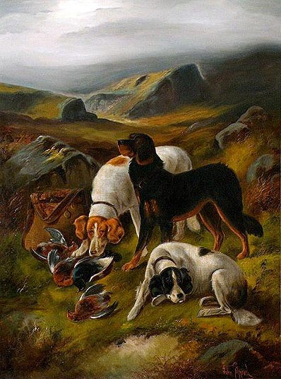 Hunting Scene,  | John Gifford | Painting Reproduction