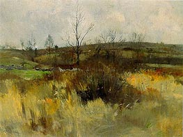 Landscape, 1889 by John Henry Twachtman | Painting Reproduction