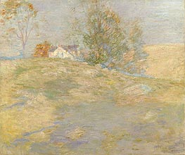 Artist's Home in Autumn, Greenwich, Connecticut, c.1895 by John Henry Twachtman | Painting Reproduction