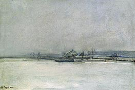 Winter Landscape with Barn | John Henry Twachtman | outdated