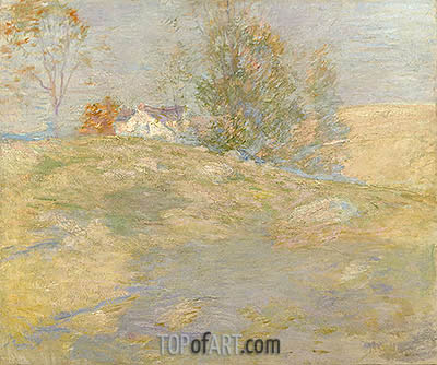 Artist's Home in Autumn, Greenwich, Connecticut, c.1895 | John Henry Twachtman | Painting Reproduction
