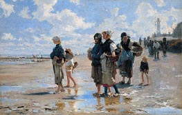 The Oyster Gatherers of Cancale, 1878 by Sargent | Painting Reproduction