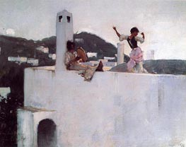 Capri, 1878 by Sargent | Painting Reproduction