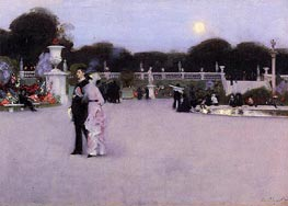 In the Luxembourg Gardens, 1879 by Sargent | Painting Reproduction