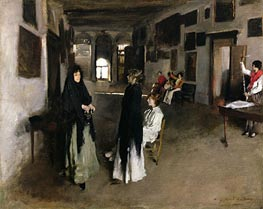 A Venetian Interior, c.1880/82 by Sargent | Painting Reproduction