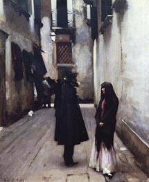 Venetian Street, c.1880/82 by Sargent | Painting Reproduction