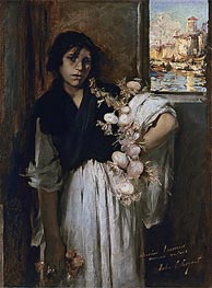 Venetian Onion Seller, 1882 by Sargent | Painting Reproduction