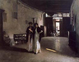 Venetian Interior, c.1880/82 by Sargent | Painting Reproduction