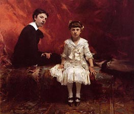 Portrait of Edouard and Marie-Louise Pailleron, 1881 by Sargent | Painting Reproduction