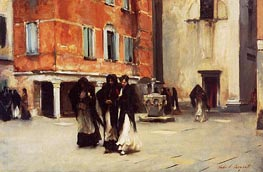 Leaving Church, Campo San Canciano, Venice, c.1882 by Sargent | Painting Reproduction