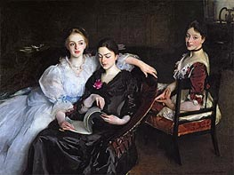 The Misses Vickers, 1884 by Sargent | Painting Reproduction