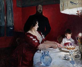 Fete Familiale: The Birthday Party, 1887 by Sargent | Painting Reproduction