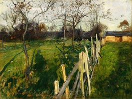 Home Fields, c.1885 by Sargent | Painting Reproduction