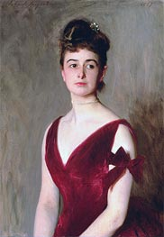 Mrs Charles E. Inches (Louise Pomeroy), 1887 by Sargent | Painting Reproduction