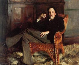 Robert Louis Stevenson, 1887 by Sargent | Painting Reproduction