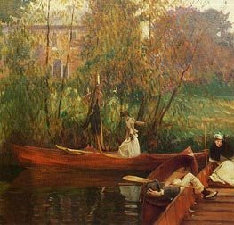 A Boating Party, c.1889 by Sargent | Painting Reproduction