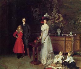 Sir George Sitwell, Lady Ida Sitwell and Family, 1900 by Sargent | Painting Reproduction