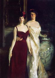 Ena and Betty, Daughters of Asher and Wertheimer, 1901 by Sargent | Painting Reproduction