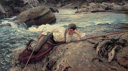 On His Holidays, 1901 by Sargent | Painting Reproduction