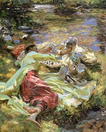 The Chess Game, c.1907 by Sargent | Painting Reproduction