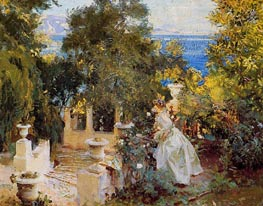 A Garden in Corfu, 1909 by Sargent | Painting Reproduction