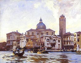 Palazzo Labia and San Geremia, Venice, 1913 by Sargent | Painting Reproduction