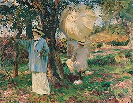 The Sketchers, 1914 by Sargent | Painting Reproduction