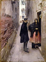 Street in Venice, c.1880/82 by Sargent | Painting Reproduction
