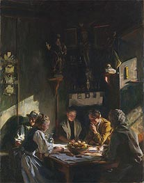 Tyrolese Interior, 1915 by Sargent | Painting Reproduction