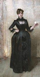 Lady with the Rose (Charlotte Louise Burckhardt), 1882 von Sargent | Gemälde-Reproduktion