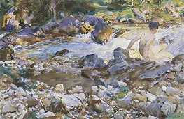 Mountain Stream, c.1912/14 by Sargent | Painting Reproduction