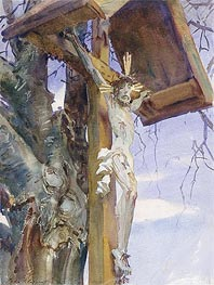 Tyrolese Crucifix, 1914 by Sargent | Painting Reproduction